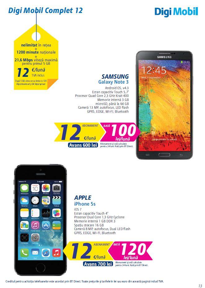 Oferta RCS-RDS pentru 2014 pe telefonie mobilă / Digi Mobil