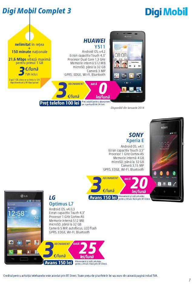 oferta rcs rds pentru 2014 pe telefonie mobil digi