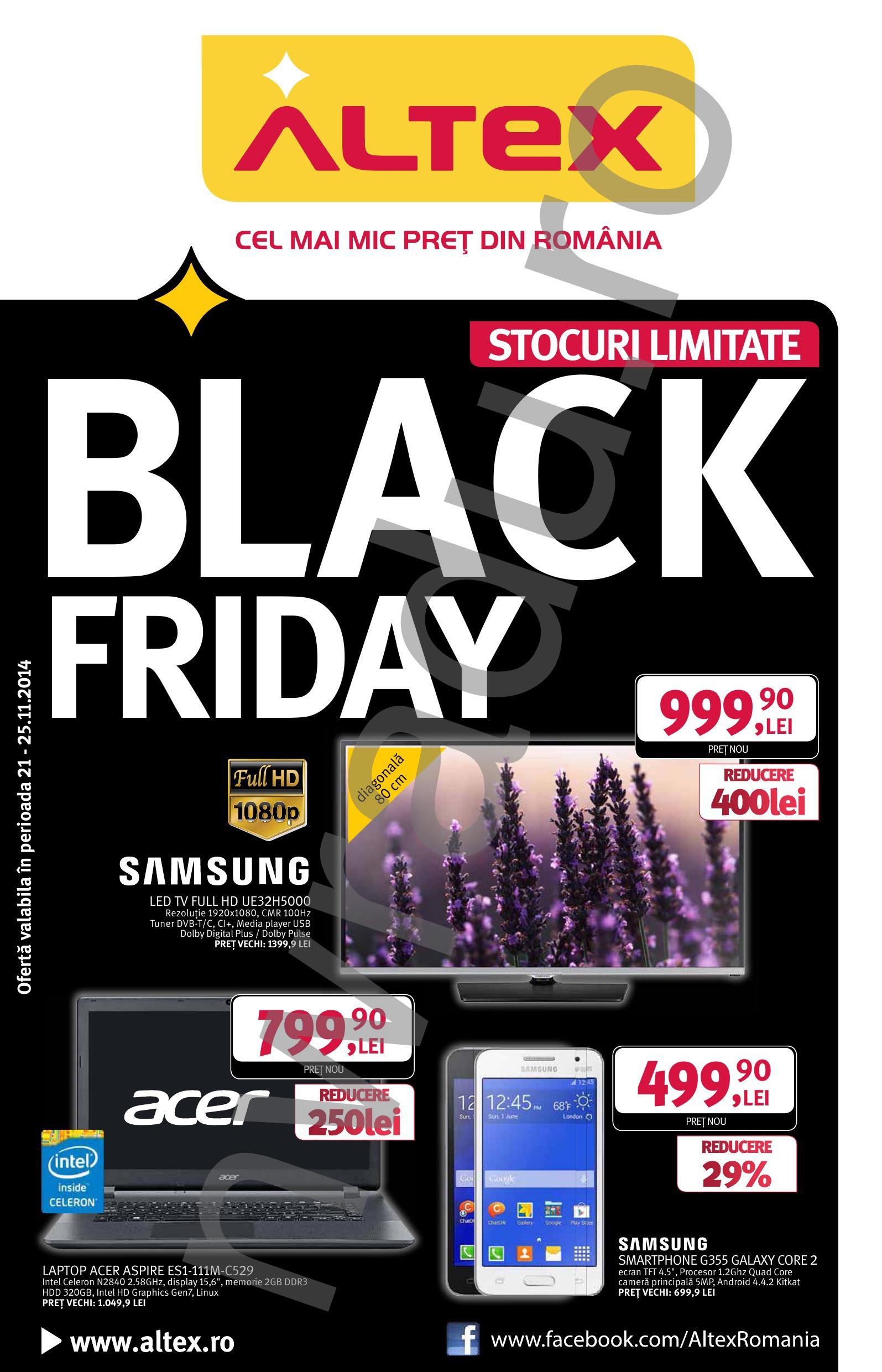 Black Friday ALTEX 22-14 noiembrie 2013 - Catalog oferte ...   Altex Black Friday