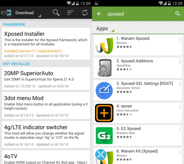 Xposed Framework sau magie Android