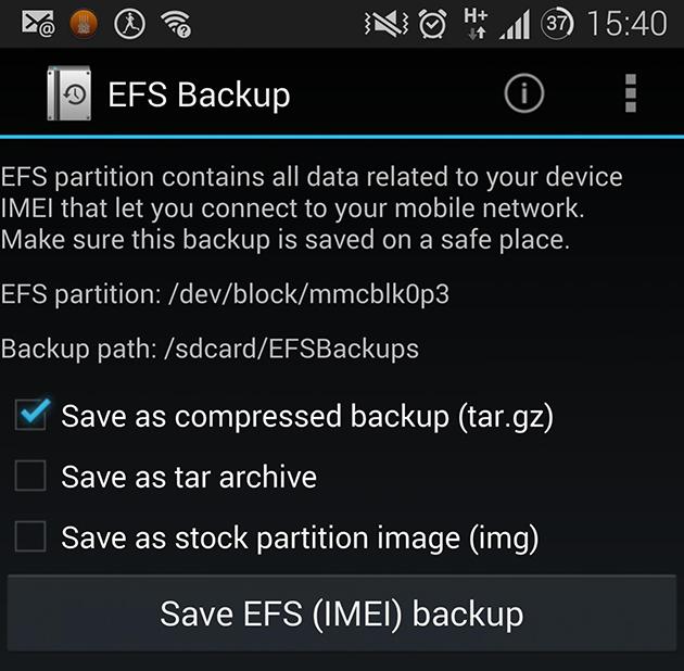Cum poti salva usor partitia EFS (IMEI) pe telefoanele Samsung