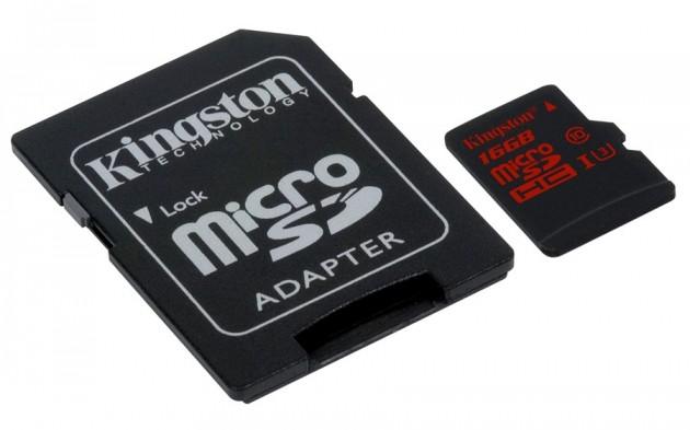 Card microSD Kingston pentru filmări 4K