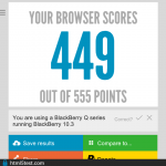 Teste benchmark BlackBerry Classic