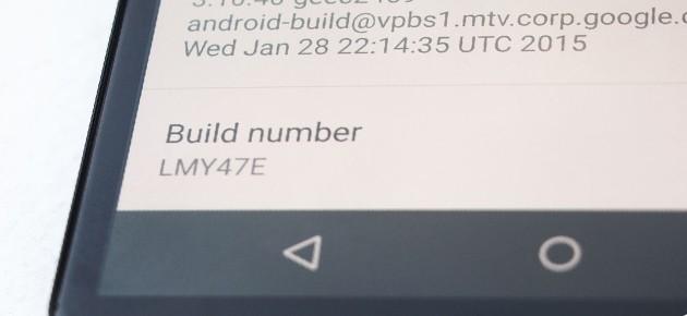 Build nou Android 5.1 pentru Nexus 6 - LMY47E