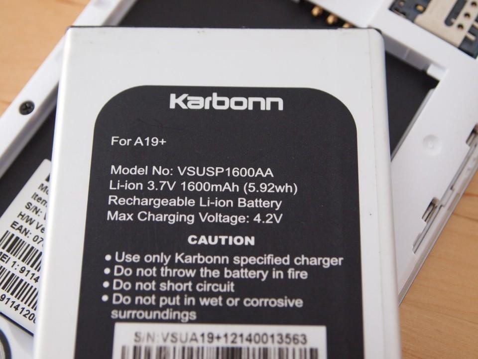 Baterie Karbonn A19 Plus