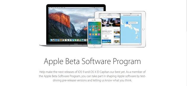 Programul Public Beta pentru iOS 9 si OS X El Capitan