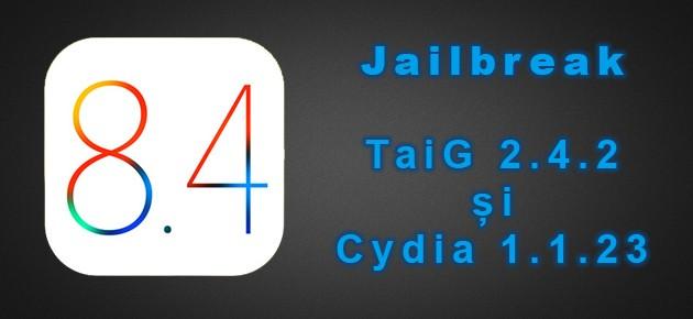 Jailbreak: TaiG 2.4.2 si Cydia 1.1.23