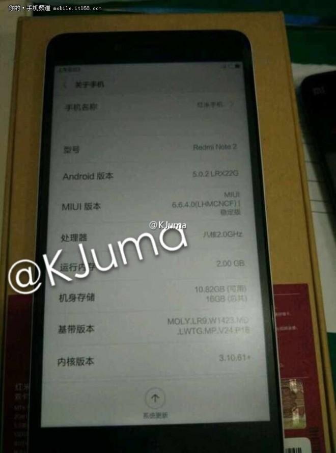Xioami Redmi Note 2 2