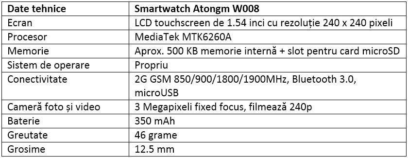Specificatii Atongm W008