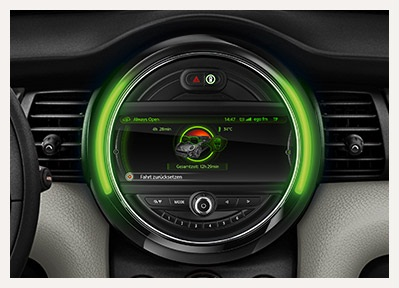 sistem infotainment noul Mini Cabriolet