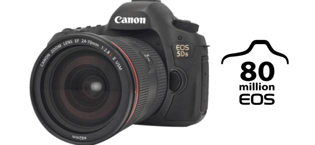 80 de milioane de camere Canon EOS