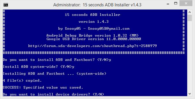 Instalare ADB, Fastboot si driver universal pentru Windows