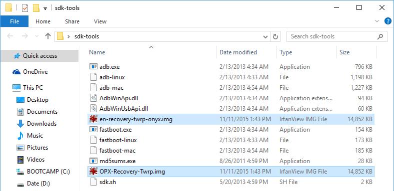 OnePlus X: Instaleaza TWRP custom recovery