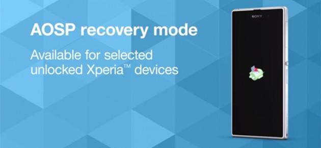 Programul AOSP Recovery pentru alte 5 terminale Sony