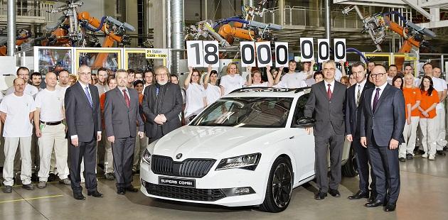 18 milioane de Skoda fabricate