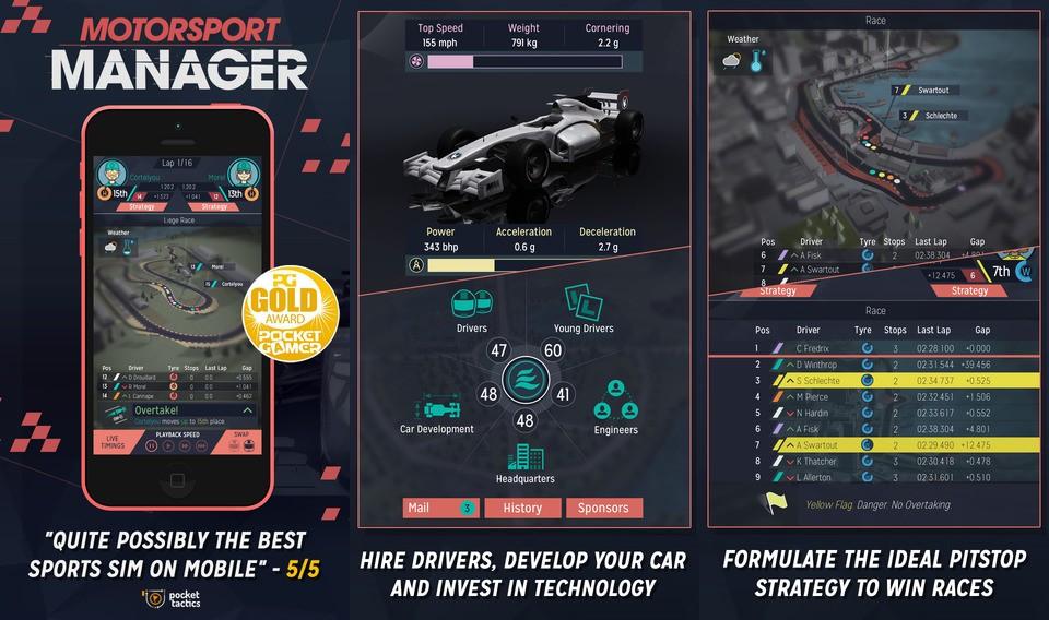 Aplicatia saptamanii in Apple App Store: Motorsport Manager