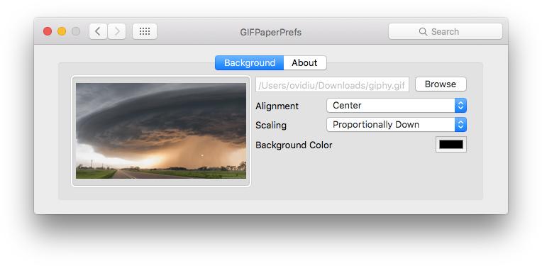 Foloseste animatii GIF ca imagine de fundal in Mac OS X