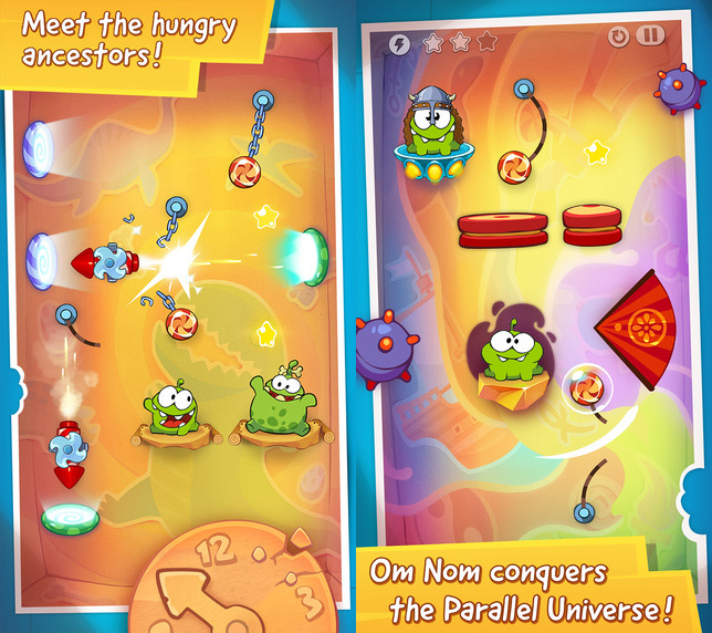 Aplicatia saptamanii în Apple App Store: Cut the Rope Time Travel