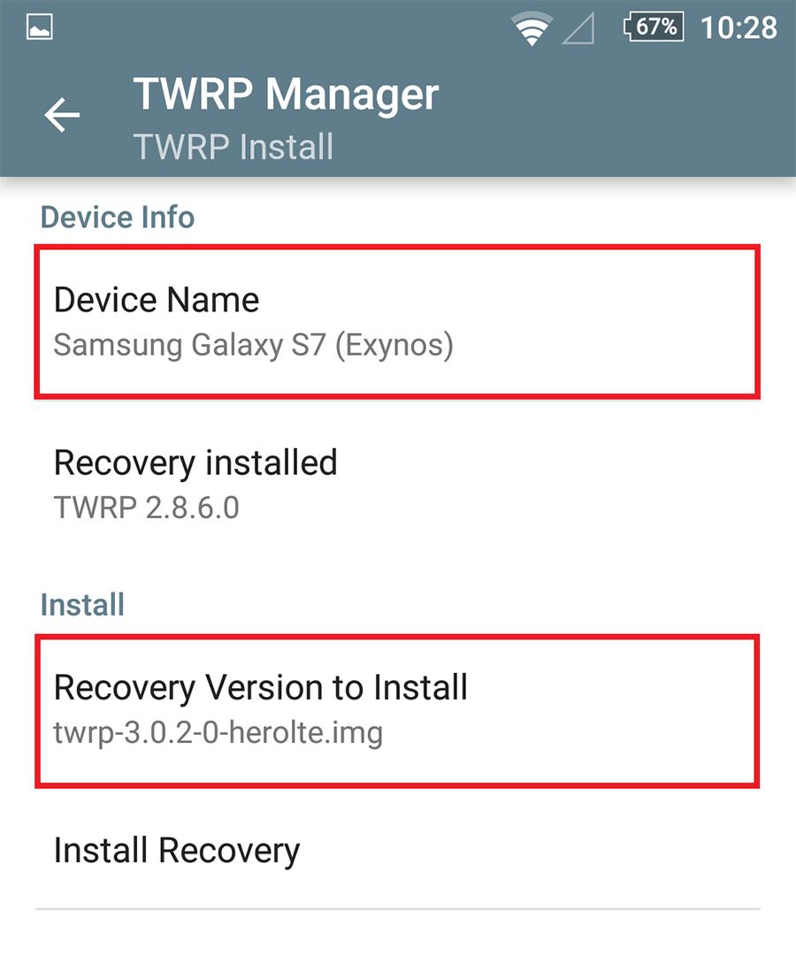 Instaleaza custom recovery TWRP pe Samsung Galaxy S7 Exynos