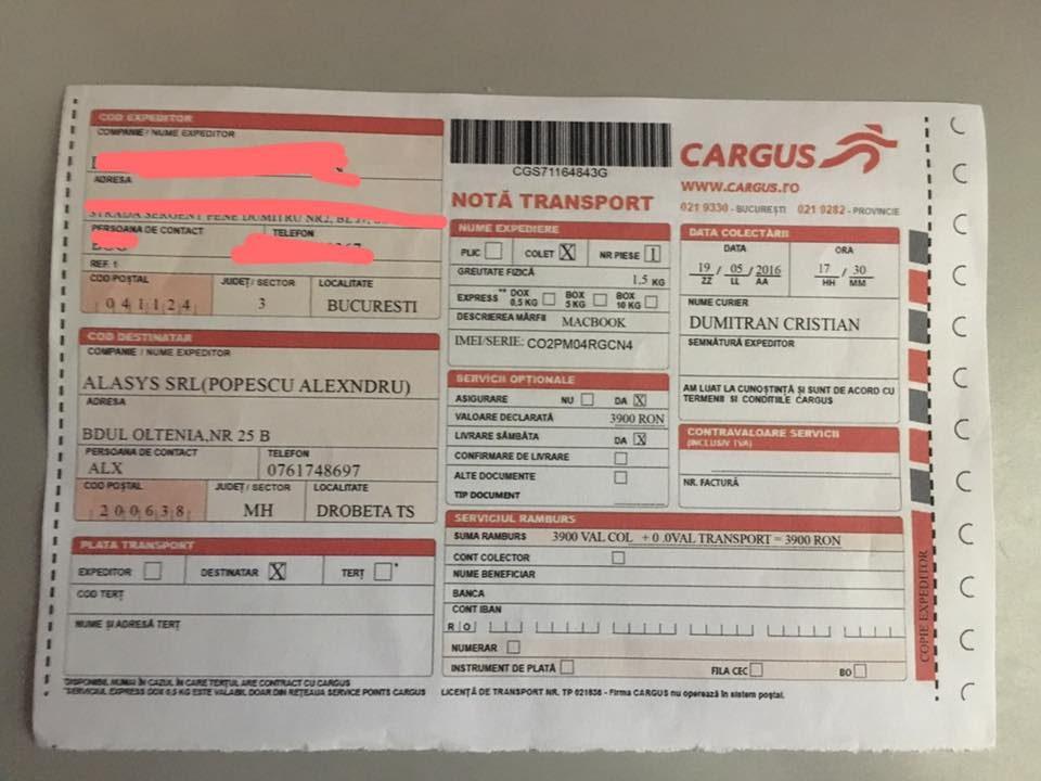verificare awb cargus