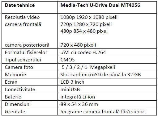 Specificatii Media-Tech U-Drive Dual MT4056
