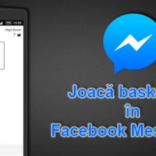 Joaca basketball in Facebook Messenger