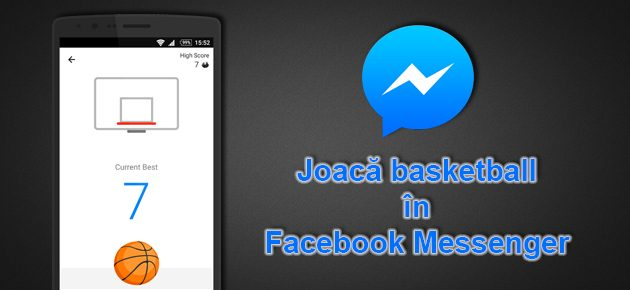 Joaca basketball in Facebook Messenger