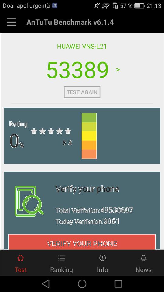 Teste benchmark Huawei P9 Lite (1)