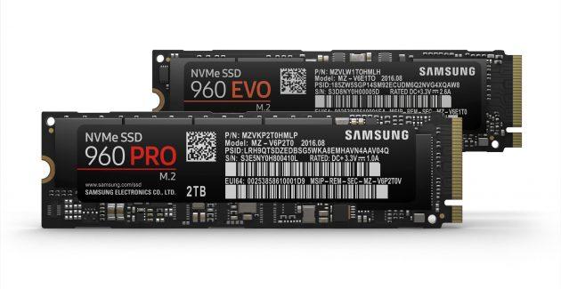 Samsung 960 PRO si 960 EVO
