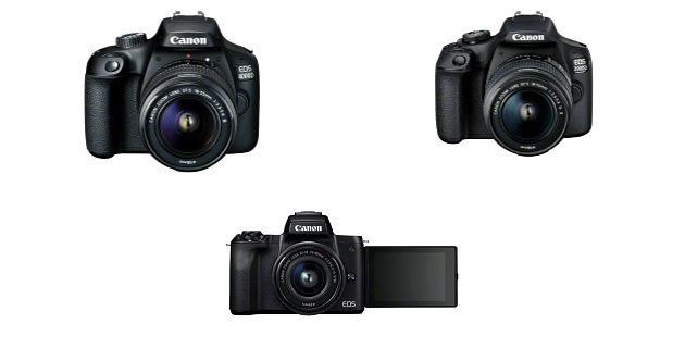 Canon EOS 4000D EOS 2000D si EOS M50