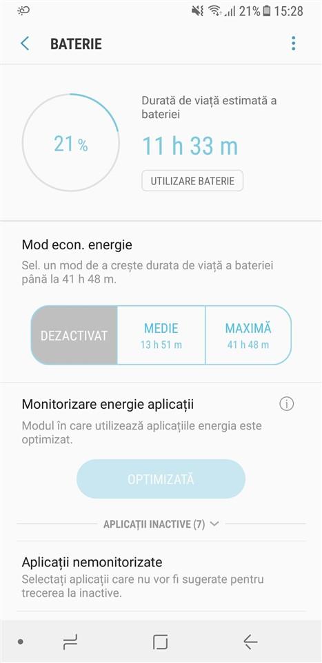 Autonomie Samsung Galaxy A8 2018