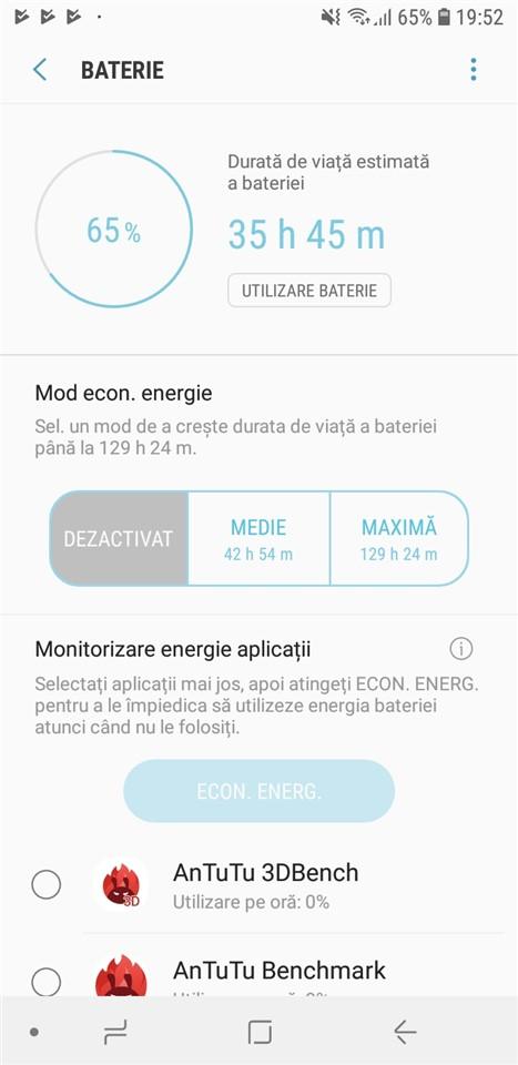 Autonomie Samsung Galaxy A6