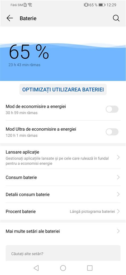 Autonomie Huawei P Smart 2019