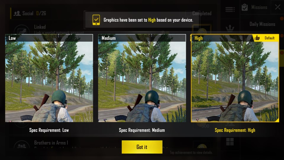 Detalii High in PUBG pe Razer Phone 2