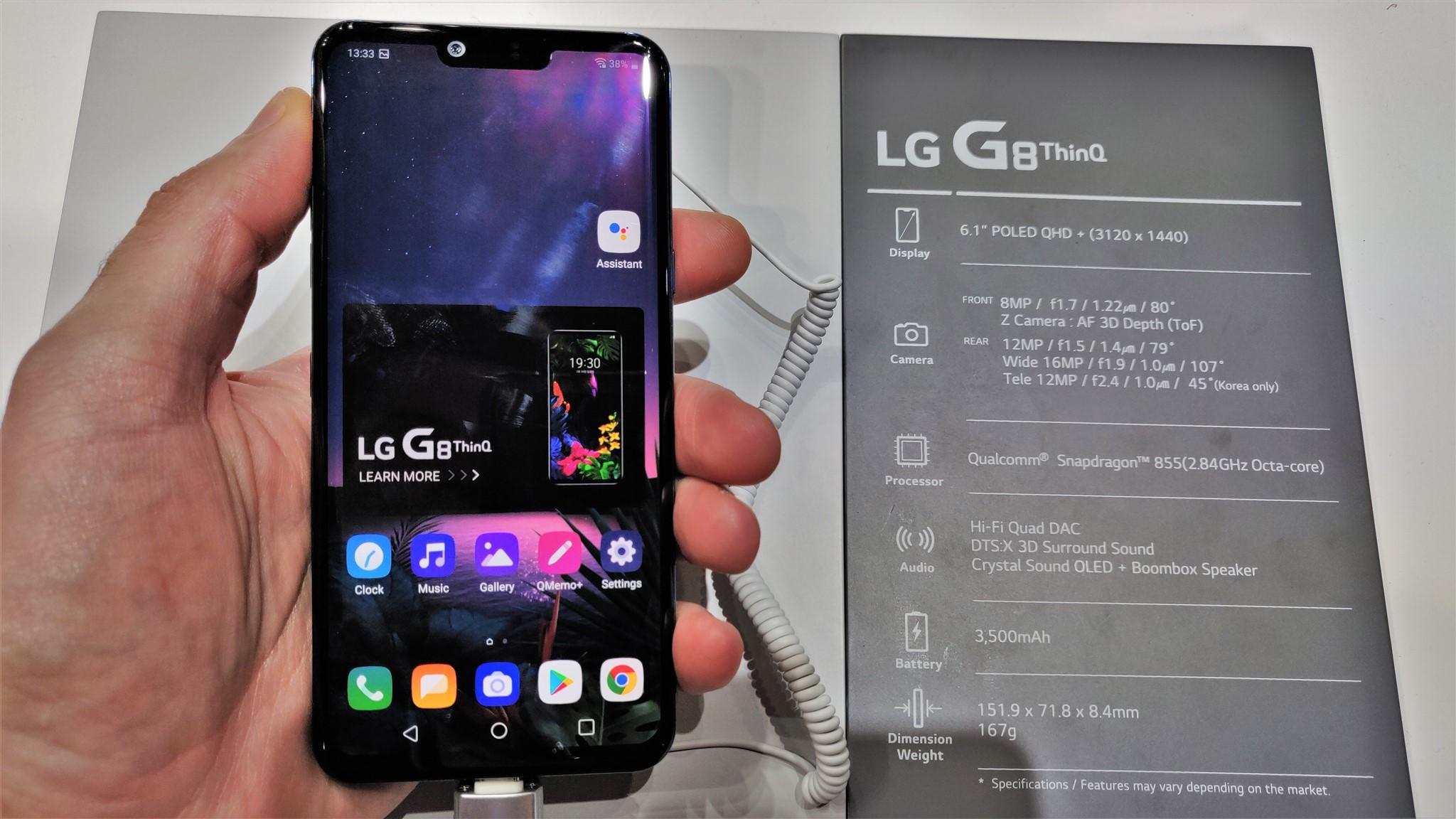 Specificatii LG G8 ThinQ la MWC 2019
