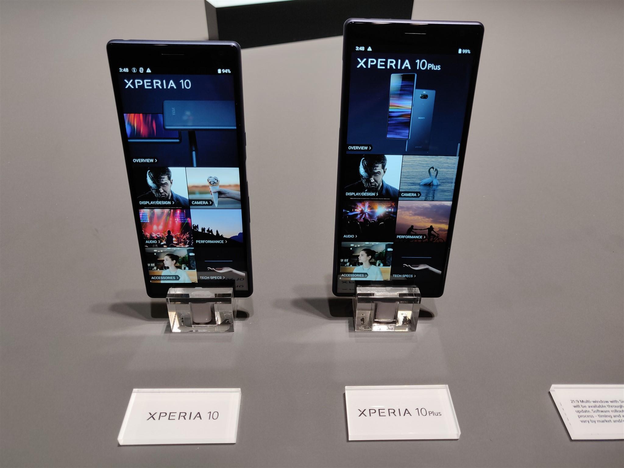 Sony Xperia 10 si 10 Plus la MWC 2019