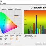 Test cu luminozitate 100% profil Adobe RGB Acer ConceptD 5 Pro
