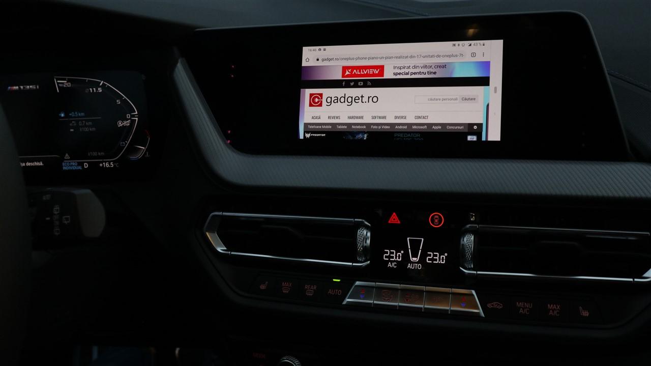 Interfata iDrive 7.0 pe BMW M135i 2019
