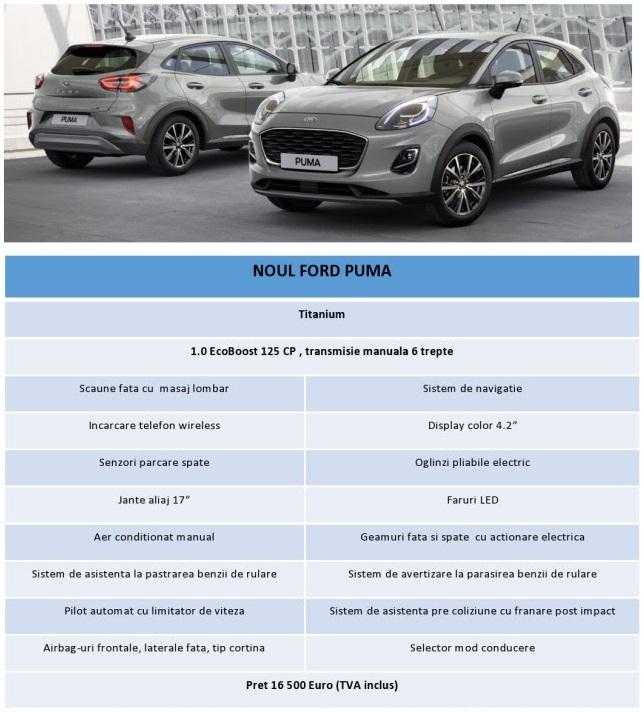 Oferta lansare Ford Puma