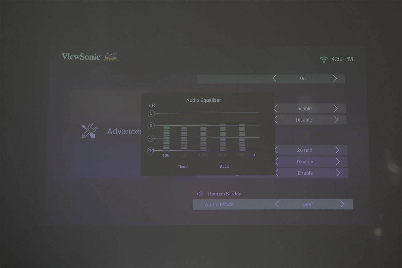Screenshots interfata sistem operare proiector ViewSonic X10-4K