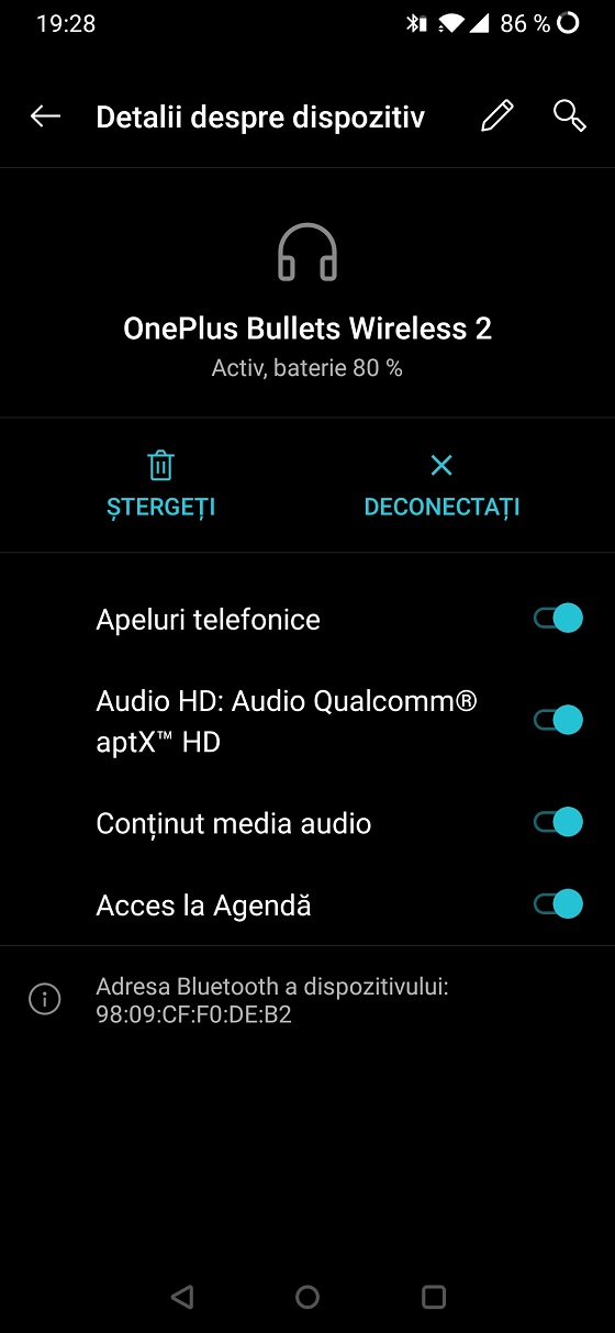 Autonomie casti OnePlus Bullets Wireless 2