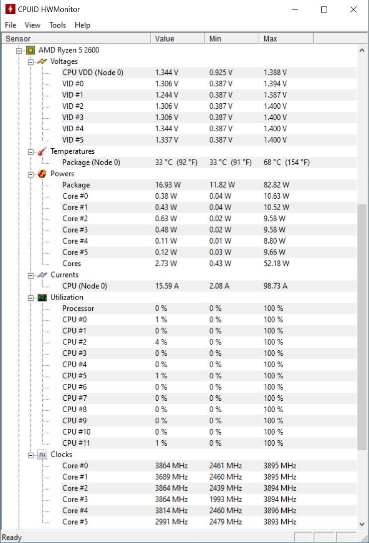 Temperaturi CPU Desktop PC Balaur de la PC Garage