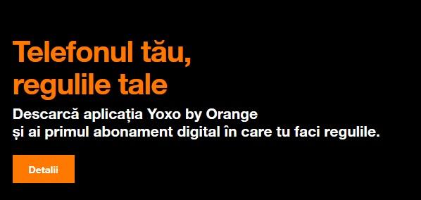 Yoxo by Orange – abonament 100% digital ce îţi dă banii înapoi dacă nu ai consumat toate datele mobile