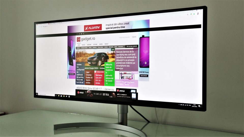 Monitor 5K UltraWide LG 34WK95U – review