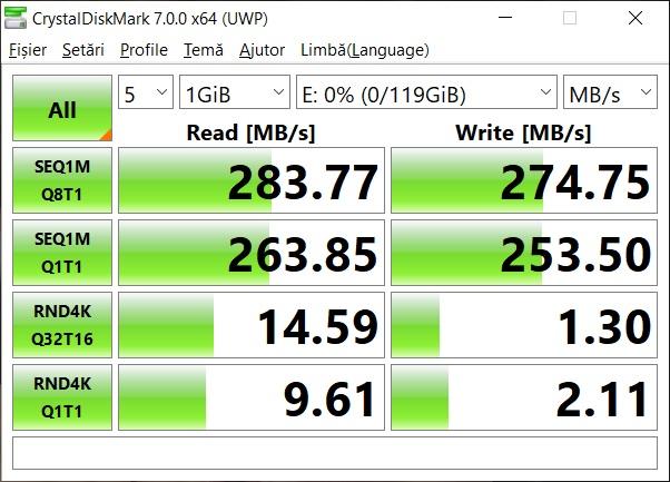 Teste benchmark card Kingston React Plus SDXC UHS-II