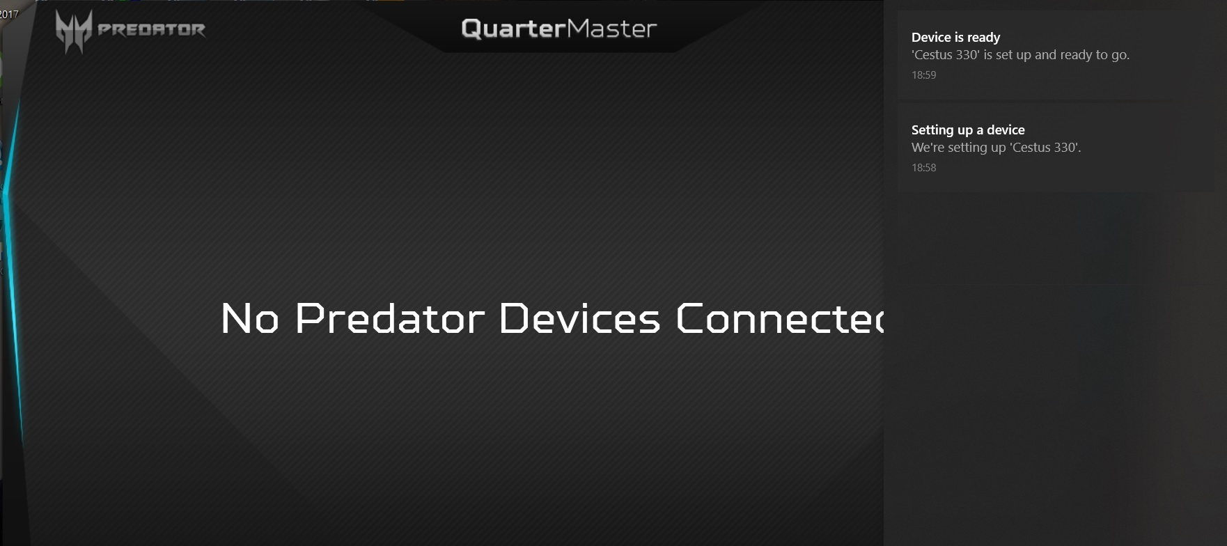 No Predator Devices Connected