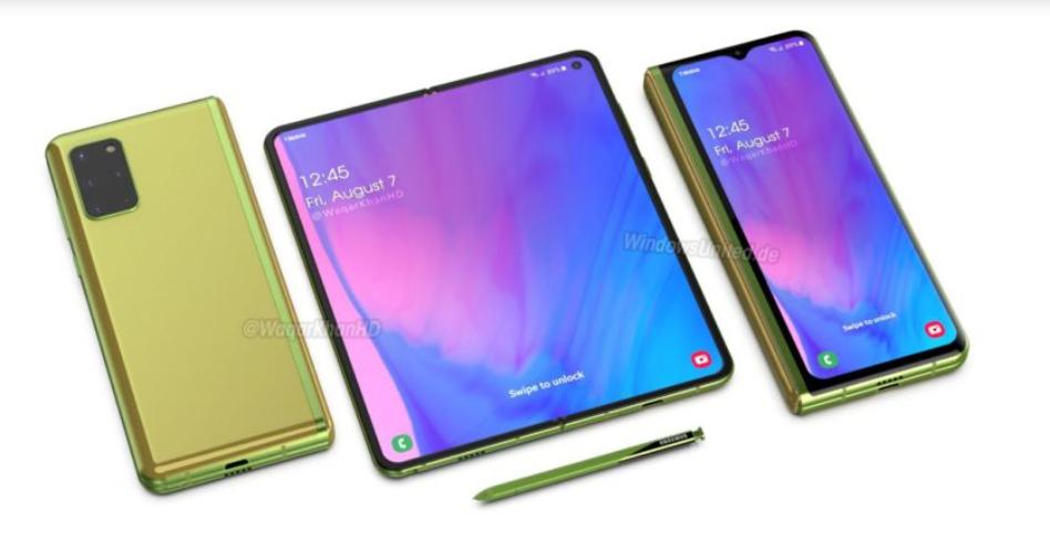 Bursa zvonurilor: Samsung GALAXY Fold 2 și o randare cu ecranul principal