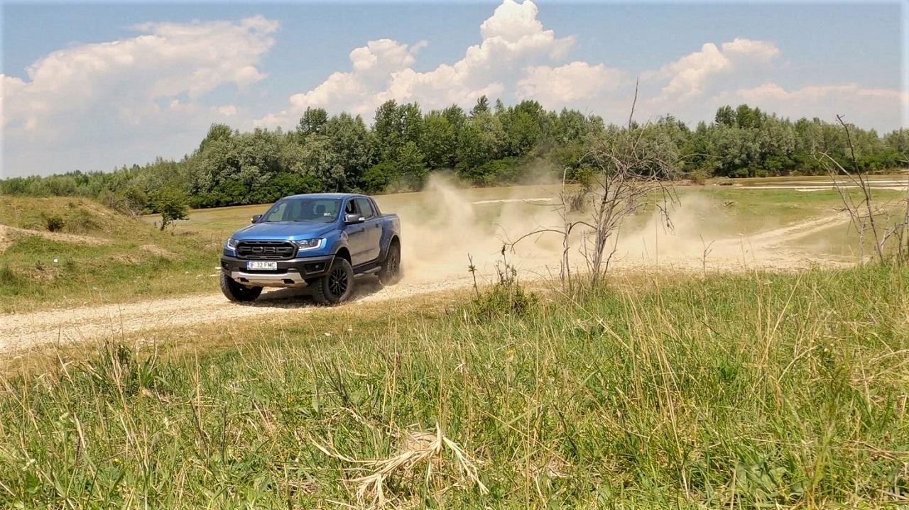 2020 Ford Ranger Raptor action shot