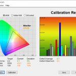 Test culori inainte calibrare Asus ZenBook 13 UX325JA