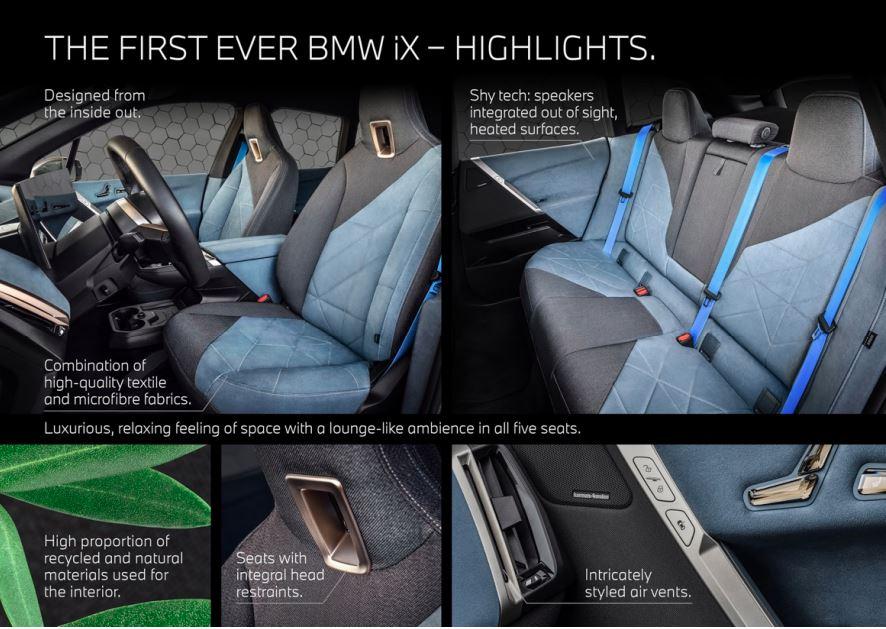 BMW iX detalii design interior